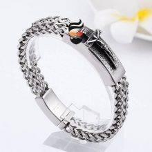 Christian Jesus Cross Charm Bracelets For Men