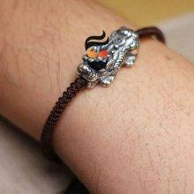 Bracelet Lucky Pixiu for men Real S990 Sterling Silver Brave