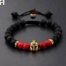 Beautiful Spartan Warrior Gladiator Helmet Bracelet  for Men