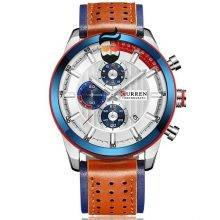 Fashion New Arrival watch for men with Calendar Leather Strap and Chronograph