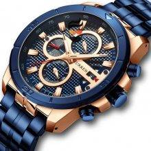 Business Men Watch Luxury Brand Stainless Steel with Chronograph